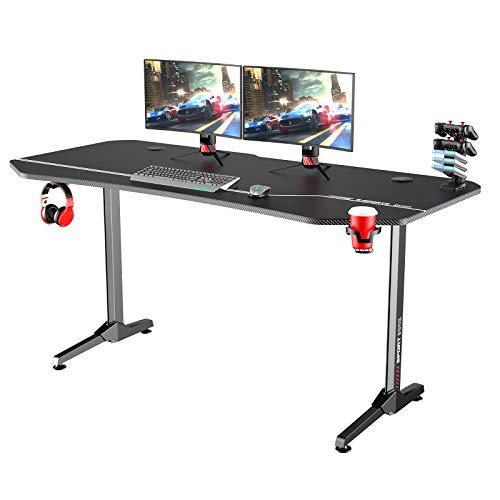 Soges 63 inches Smooth Gaming Desk Pc Desk Pc Gamer Desk Pro Table Ergonomic PC Desk NE-1675