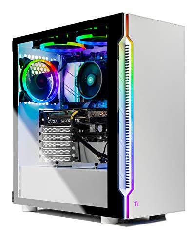 SkyTech Archangel 3.0 Gaming Computer PC Desktop – Ryzen 5 3600 6-Core 3.6GHz, RTX 3060 12GB, 1TB SSD, 16GB DDR4 3000, B450 MB, RGB Followers, AC WiFi,