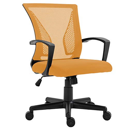 HALTER Desk Chair – Orange Gaming Mesh Chair – Adjustable and Chuffed Ergonomic Chair with Armrests and Flit Lumbar Increase – Ultimate Gaming or Home Attach of enterprise Chair