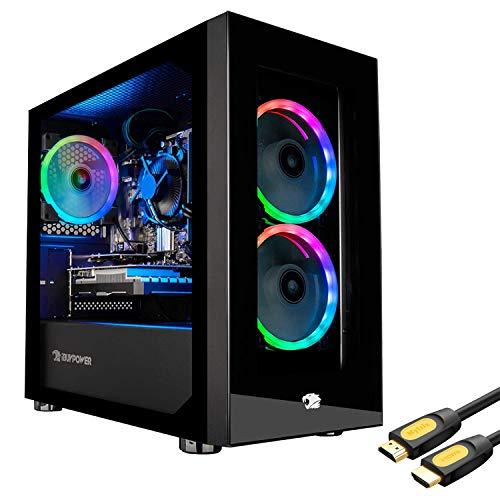 iBUYPOWER Part Pro 161i Gaming Desktop Laptop, Intel Core i7-10700F 2.90GHz, 16GB RAM, 240GB SSD+2TB HDD, NVIDIA GeForce GTX 1660 6GB, Home windows 10 Home,…
