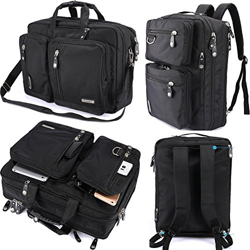 FreeBiz Computer Backpack Messenger Assemble-Hybrid Briefcase Bookbag Rucksack with Address and Shoulder Strap Fits As a lot as 18.4 Trot Gaming Computer (18.4 inches, Dim)