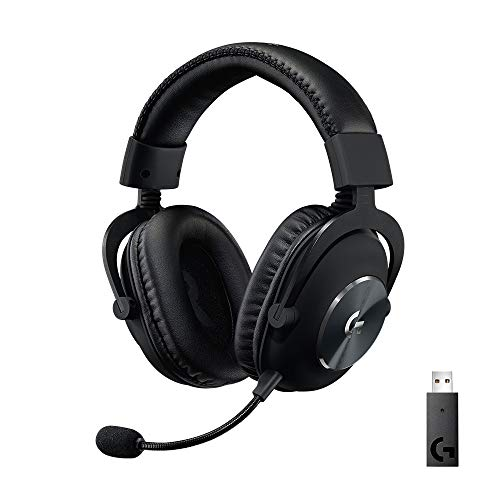 Logitech G PRO X Wi-fi Lightspeed Gaming Headset with Blue VO!CE Mic Filter Tech, 50 mm PRO-G Drivers, and DTS Headphone:X 2.0 Surround Sound