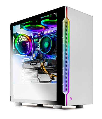 SkyTech Archangel 3.0 Gaming Computer PC Desktop – Ryzen 5 3600 6-Core 3.6GHz, RTX 2060 6G, 500GB SSD, 16GB DDR4 3000, B450M MB, RGB Followers,…