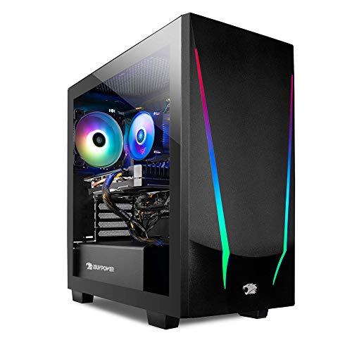 iBUYPOWER Pro Gaming PC Computer Desktop Trace 4 93G730 (AMD Ryzen 5 3600 3.6GHz, NVIDIA GeForce GT 730 2GB, 8GB DDR4 RAM, 240GB SSD, WiFi…
