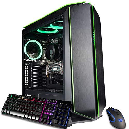 CUK Mantis Custom-made Gamer PC (AMD Ryzen 7 with Radeon Graphics, 32GB 3200MHz DDR4 RAM, 512GB NVMe SSD + 2TB HDD, 500W PSU, AC WiFi,…