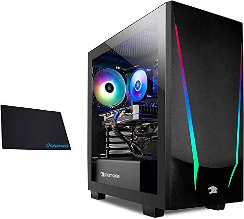 iBUYPOWER Gaming PC Laptop Hint Desktop (AMD Ryzen 5 3600 3.6GHz, NVIDIA GeForce GT 730 2GB, 8GB DDR4 RAM, 240GB SSD, WiFi Prepared, Windows 10…