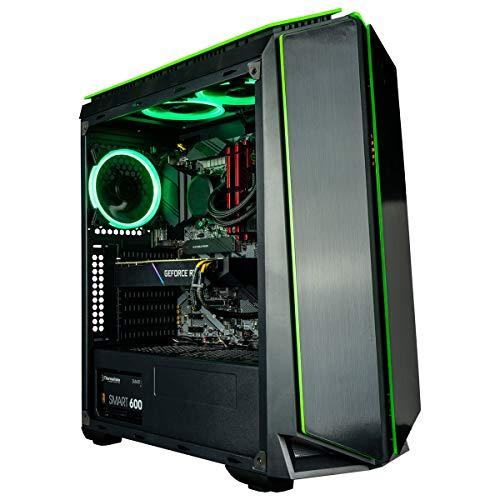 CUK Mantis Gamer PC (No OS, Liquid Cooled Intel Core i7, 16GB RAM, 512GB NVMe SSD, NVIDIA GeForce GTX 1660 Friendly 6GB, 500W PSU, AC…