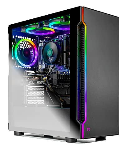 SkyTech Shadow Gaming Computer PC Desktop – Ryzen 5 3600 6-Core 3.6GHz, 1660 Spacious 6G, 1TB SSD, 16GB DDR4 3000, RGB Fans, AC WiFi, Windows…