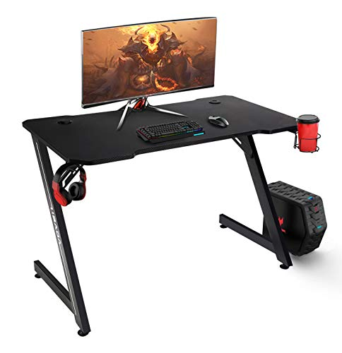 Hbada 43 lunge Gaming Computer Desk, Home Office PC Desk, Z-Shape Racing Fashion Game Place with Double Cable Region up Hole, Sturdy Ergonomic E-Sports actions…