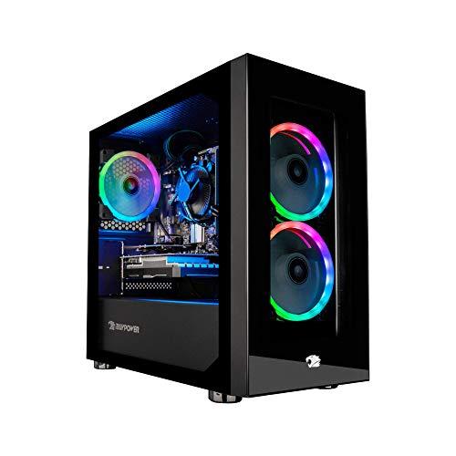 iBUYPOWER Pro Gaming PC Computer Desktop Part Mini 190A (Ryzen 3 3100 3.6GHz, NVIDIA GeForce GT 710 1GB, 8GB DDR4, 480GB SSD, WiFi Ready, Windows…