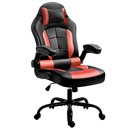 Gaming Chair, Cadcah Ergonomic Computer Chair Reclining Excessive Back Station of job Chair Height Adjustment Desk Chair with Armrests Headrest and Lumbar Make stronger PC…
